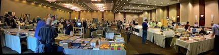 Panoramic view of the dealer room.
