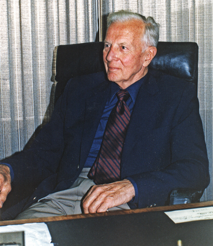 Herman Brix in his Los Angeles office, 1976