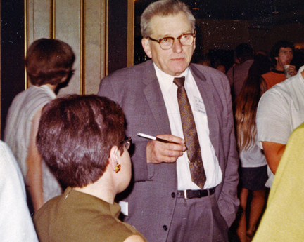 Campbell at the 1968 World Science Fiction Convention.