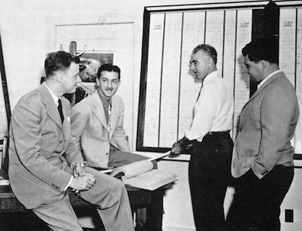 """L to R: """"Bunny,"""" Jack English, Louis Germonprez, Bill Witney."""