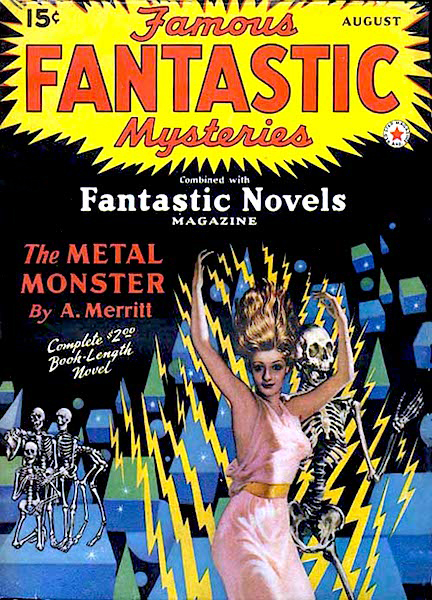 The August 1941 issue of FFM, with a Virgil Finlay cover.