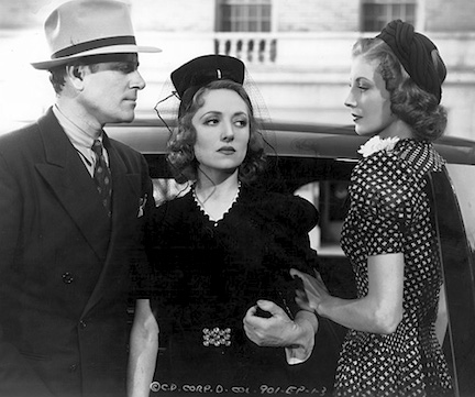 Iris (right) with Warren Hull and Beatrice Curtis.
