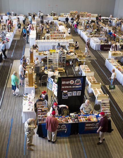 Another view of the dealers room.  Photos by William Lampkin.